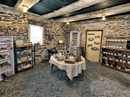 The limestone gift shoppe showcases handmade crafts