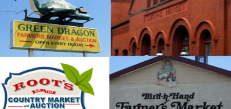 a collage of the local markets